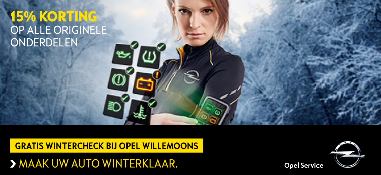 Gratis Wintercheck bij Opel Willemoons