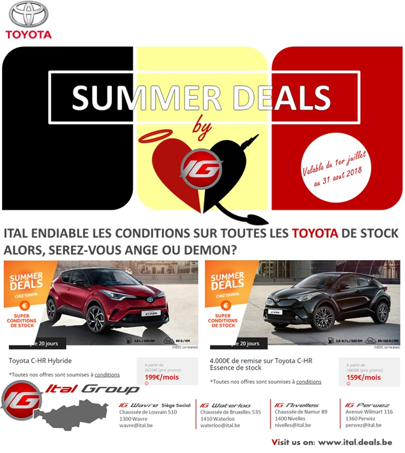 ITAL SUMMER DEALS 2018
