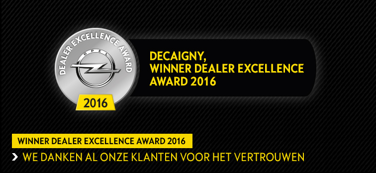 Opel Decaigny Dealer Excellence Award 2016